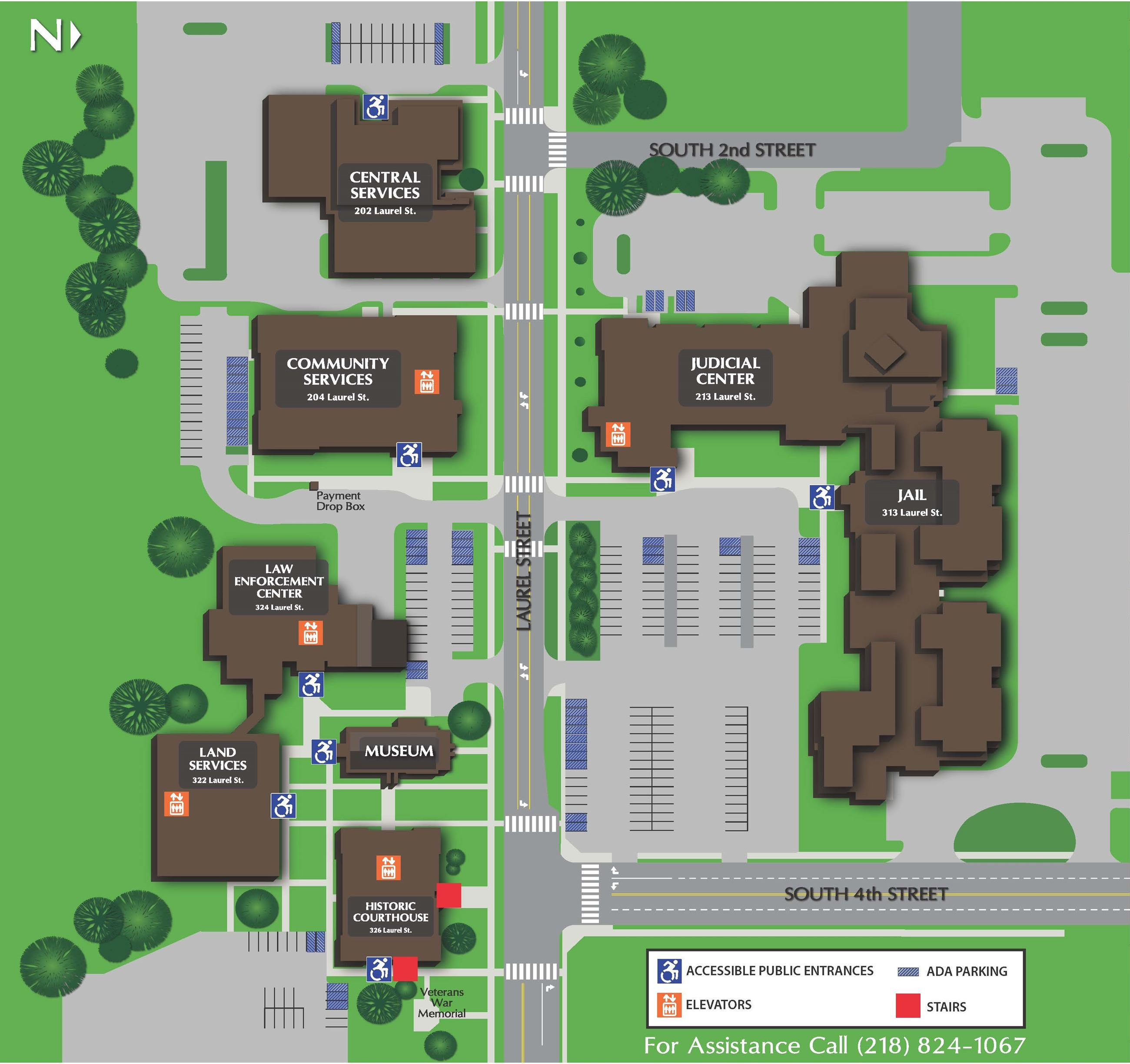 Crow Wing County Campus Map