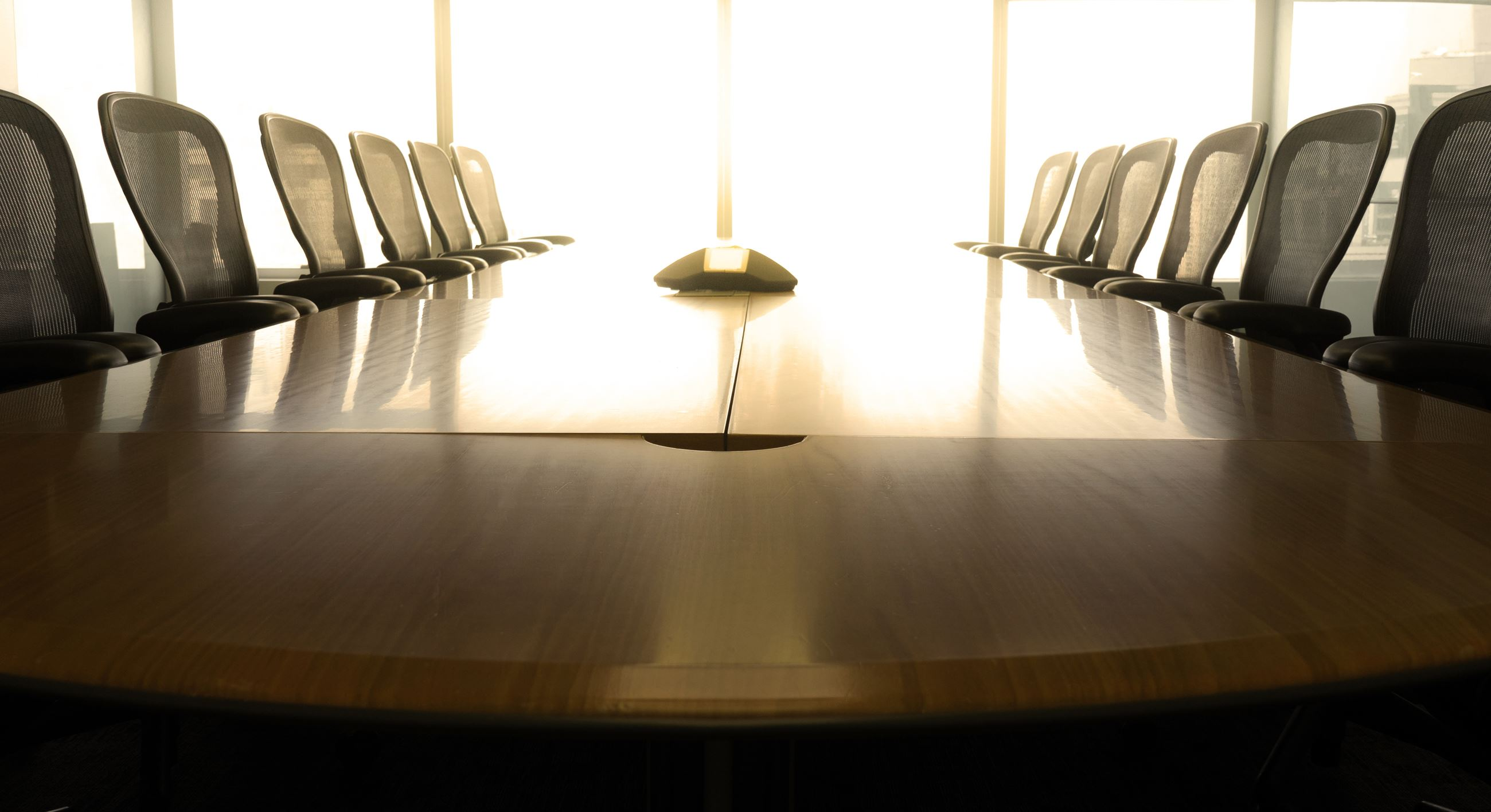 table with empty chairs