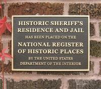 Historic Sheriff Residence Plaque