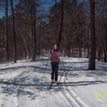 Skiing at Larson Lake