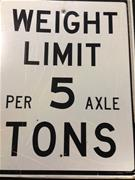 5 ton limit sign
